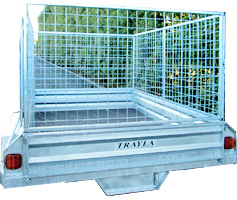 galvanised trailer crate