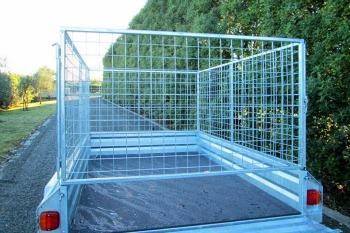 galvanised trailer crate north island