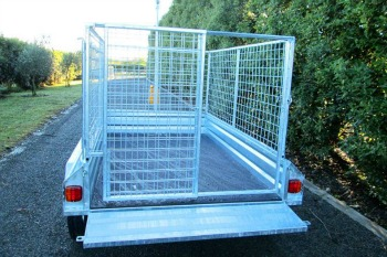 slide gate galvanised trailer crate nz