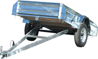 gravity tipping trailer