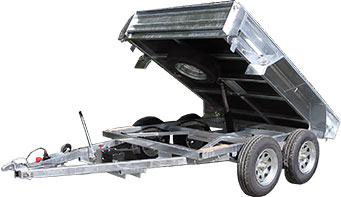 manual hydraulic tipping trailer