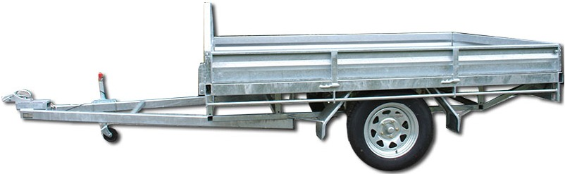 single axle flat deck trailer
