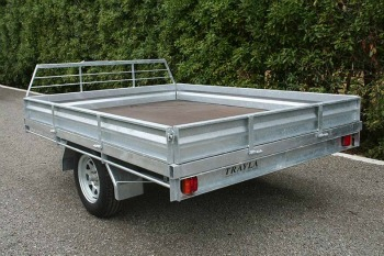 single axle flat deck trailer nz