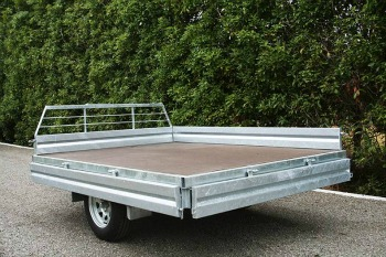 single axle flat deck trailer levin