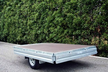 single axle flat deck trailer north island