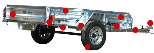 Single Axle Trailer Features