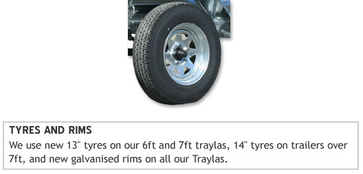Single Tyres and Rims