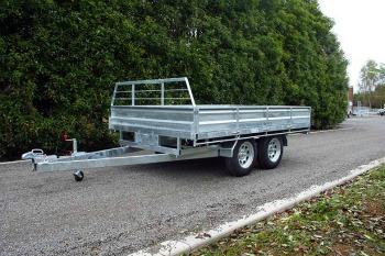 tandem trailer flat deck