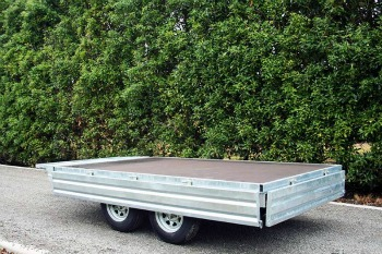 flat deck tandem trailer north island