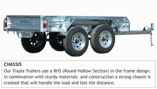 tandem trailer chassis